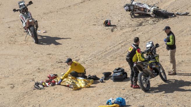 Accidente de Paulo Gonçalves en el Dakar 2020.