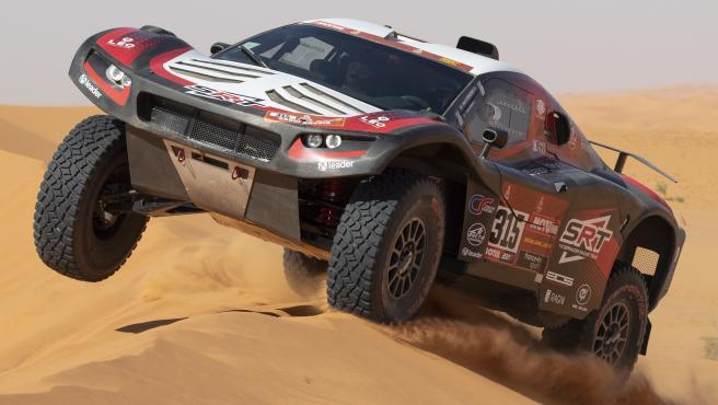 Mathieu Serradori, durante el Dakar 2020.