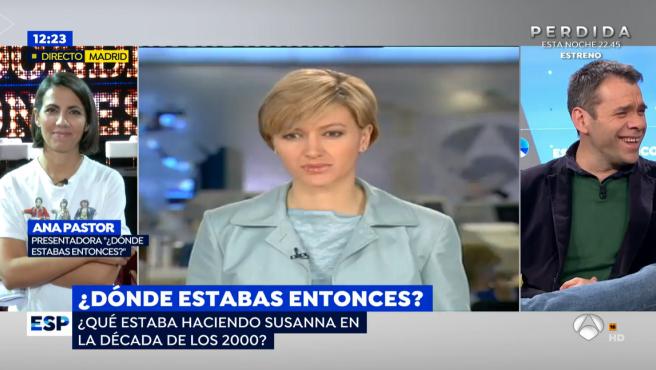 La presentadora Ana Pastor en directo en el programa de 'Espejo Público'.