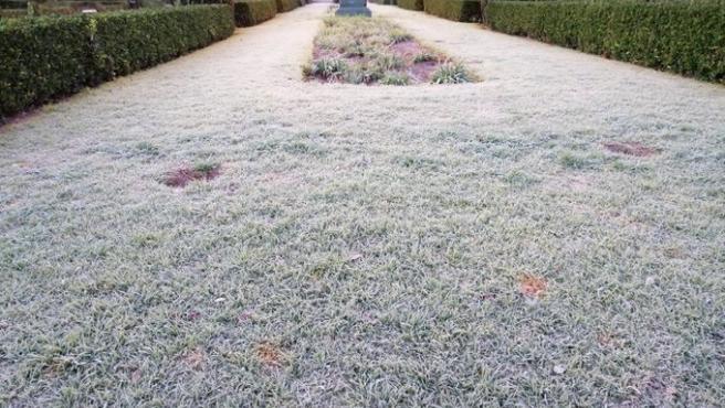 El frío deja mínimas de -8ºC en Ademuz y comienzan a aparecer las primeras placas de hielo en carreteras