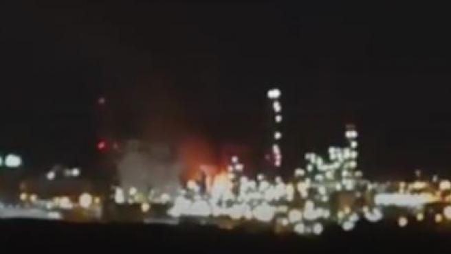 Explosión en una planta petroquímica de Tarragona.