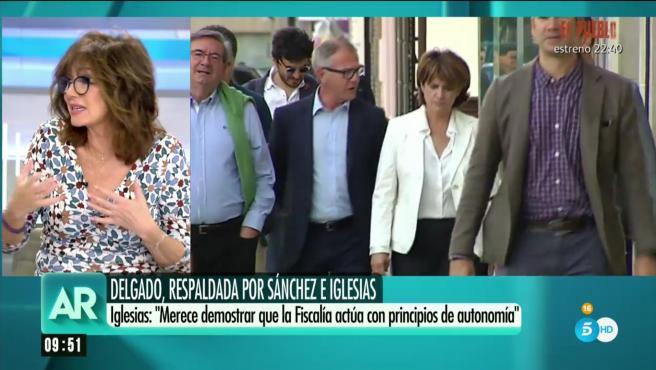 La presentadora Ana Rosa Quintana en su programa.