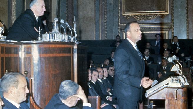CA 1986 – MADRID ESPAÑA: Presentacion de la ley de prensa en el congreso Madrid.