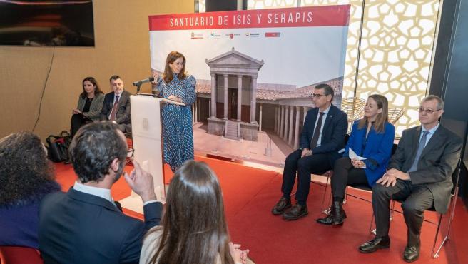 El recién terminado Museo del Foro alberga la presentación del libro 'El santuario de Isis y Serapis'