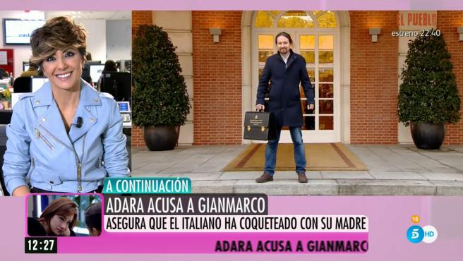 Pablo Iglesias en la fotografía oficial frente a la Moncloa.