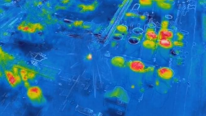 Un dron de Mossos sobrevuela la zona de la explosión de Tarragona con una cámara térmica