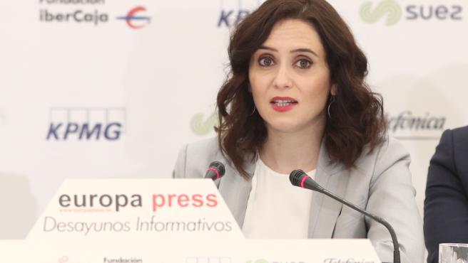 Ayuso vuelve a reclamar un cambio del sistema de financiación autonómico que sea justo con Madrid