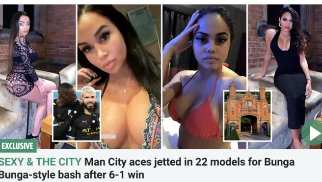 Captura de la noticia que destapa la fiesta de los jugadores del City