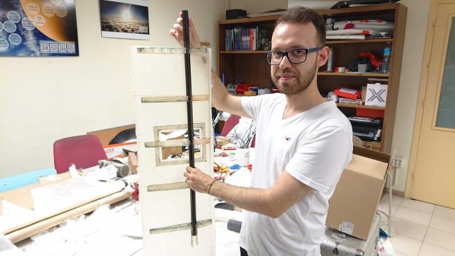 El estudiante de Ingeniería de Vehículos Aeroespaciales Ferran Lumbierres.