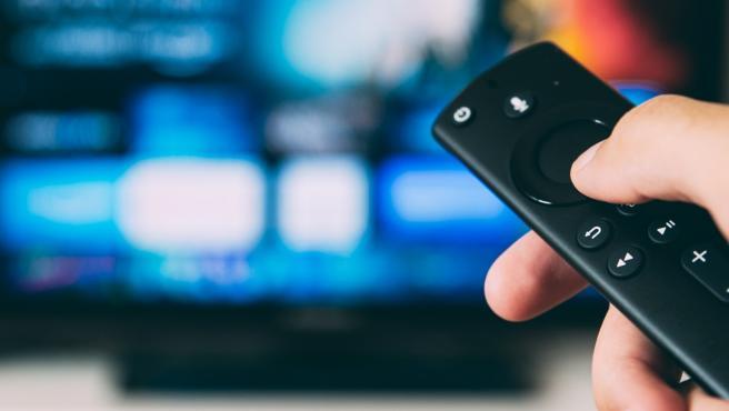 Un televisor con plataforma de contenido online