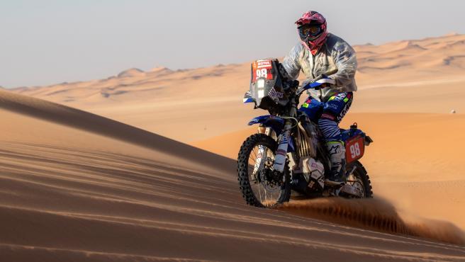 La piloto, durante el Dakar 2020.