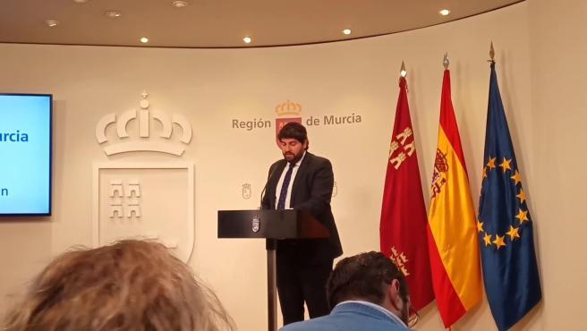 """López Miras reprocha la """"injerencia"""" del Gobierno central"""