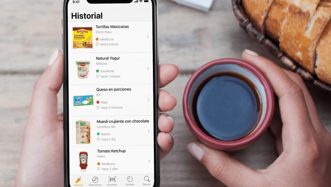 La app Yuka califica los productos según su valor nutricional, entre otras cosas.