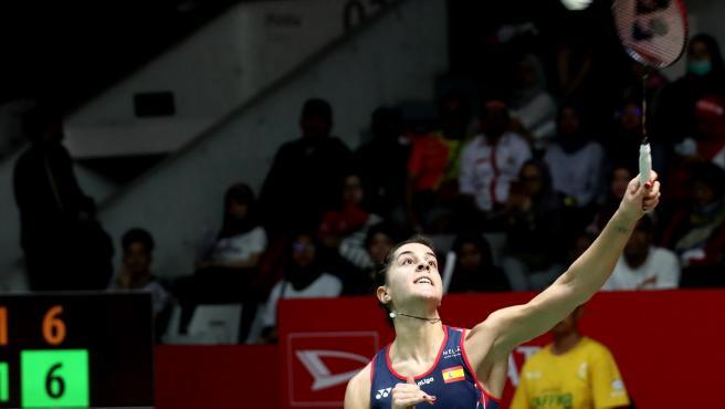 Carolina Marín también venció a la china He.