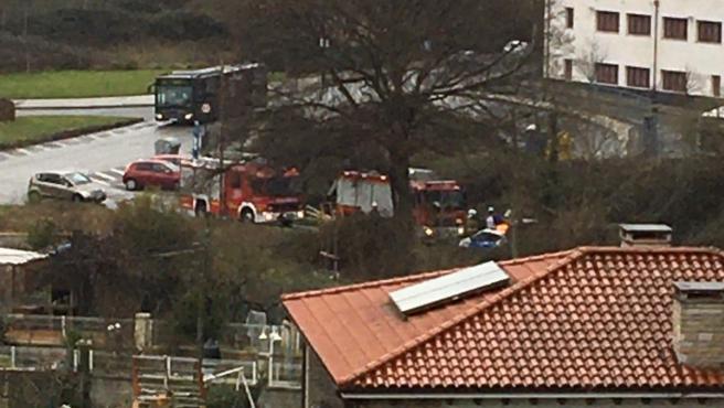 Un herido en un accidente de tráfico en Oviedo