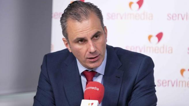 Ortega Smith confirmando que Vox abrirá una sede en Barcelona.