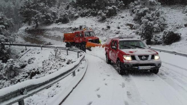 Albacete estará este lunes en alerta roja y Cuenca y Guadalajara en aviso naranja por nevadas