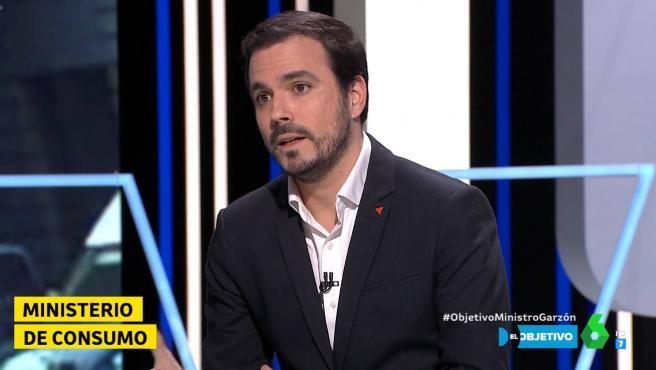 El ministro de Consumo, Alberto Garzón, en el programa 'El Objetivo'.