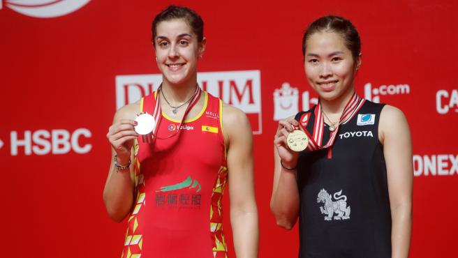 Carolina Marín, junto a Ratchanok Intanon, campeona en Indonesia.