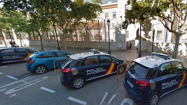 Comisaría de la Policía Nacional en el distrito de Abastos, Valencia.