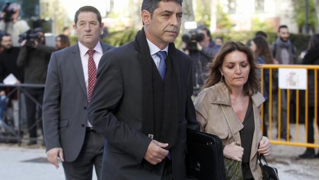 Trapero acudiendo al Tribunal Nacional.