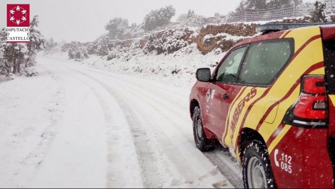 Emergencia Situación 0 por nieve en Els Ports, l'Alcatalén, Alt Maestrat, Alt Palància y Alt Millars