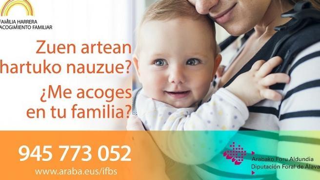 La Diputación de Álava reanuda este lunes las charlas informativas sobre el acogimiento familiar