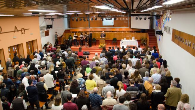 Celebración de una misa evangélica.