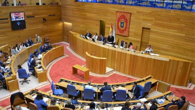 Hemiciclo del Parlamento de Galicia en la votación de María Dolores Fernández Galiño como nueva valedora do Pobo.