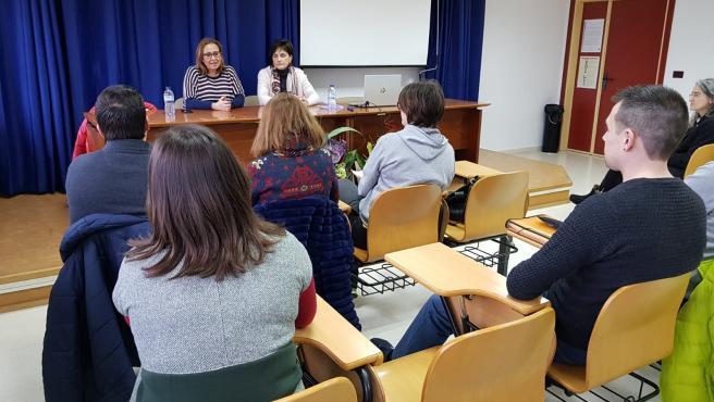La consejera de Presidencia y Relaciones Institucionales, Mayte Pérez, en un acto en Teruel