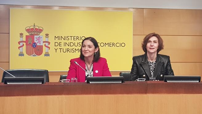 La ministra de Turismo, Comercio y Turismo, Reyes Maroto en la rueda de prensa balance turístico 2019 y agenda Fitur 2020
