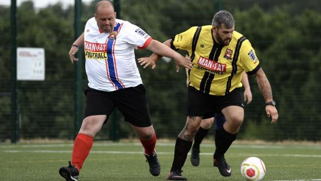 Un partido de la liga 'Man vs Fat'