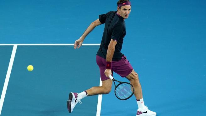 Roger Federer, en el Open de Australia.