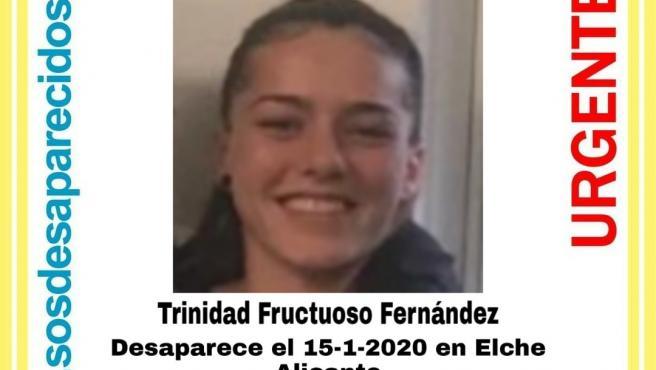 Cartel para localizar a Trinidad Fructuoso.