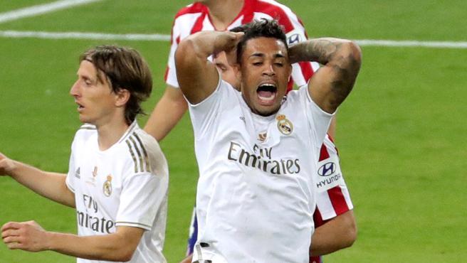 Mariano Díaz, durante un partido del Real Madrid.