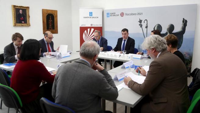 O conselleiro de Cultura e Turismo, Román Rodríguez, preside a comisión executiva da Comisión organizadora do Xacobeo 2021.