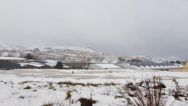 Panóramica de la neu a Bocairent (València) durant el temporal 'Gloria'