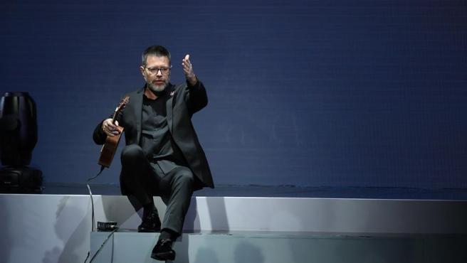 El humorista y presentador Héctor de Miguel, Quequé, durante la entrega de los primeros Premios Odeón.