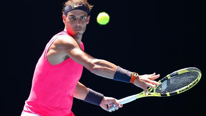 Rafa Nadal en su debut en el Open de Australia