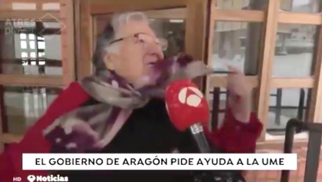 Angelines, una señora de un pueblo de Teruel que se ha hecho viral.