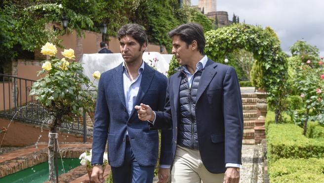 Los hermanos Cayetano y Fran Rivera.