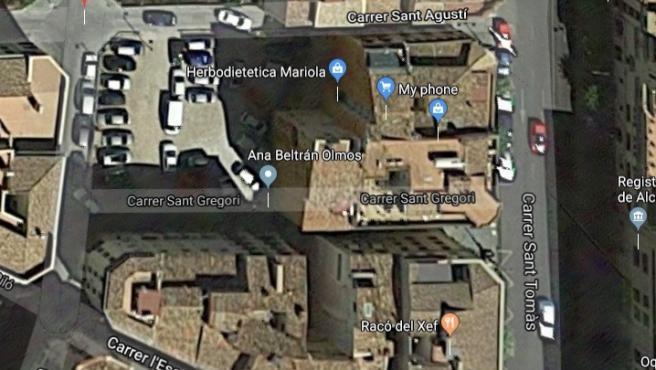 Edificios afectados en Alcoi