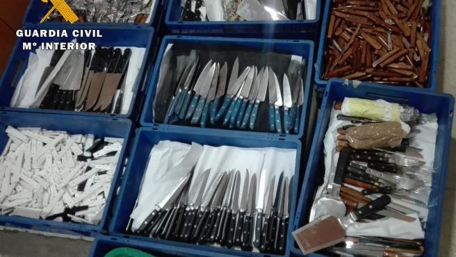 Efectos robados de una empresa cuchillera de Madrigueras