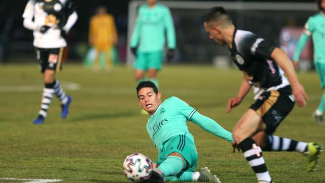 Fede Valverde, durante el partido de Copa del Real Madrid ante Unionistas