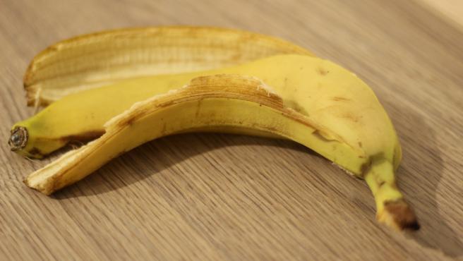 Imagen de archivo de una cáscara de plátano.