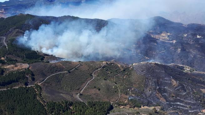 Incendio en Artenara, Gran Canaria