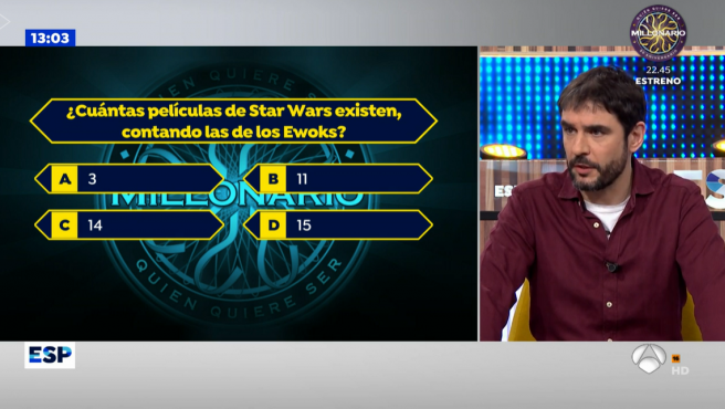 El presentador Juanra Bonet en el programa de 'Espejo Público'.