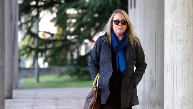 Marina Castaño llega al juicio por el caso Fundación Cela