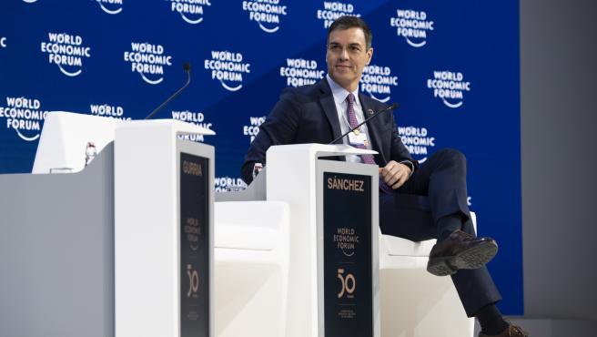 Pedro Sánchez, en Davos