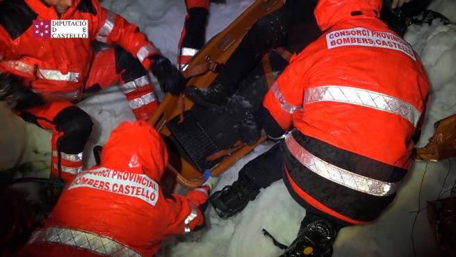 Rescate de un hombre en Morella
